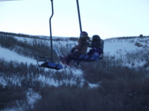 Riding the ski lift with no adult almost gave me a heart attack!