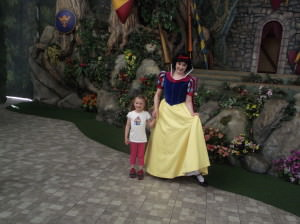 "My princess with a ""real"" princess"