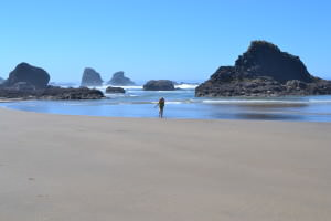 Beach near Haystack Rock