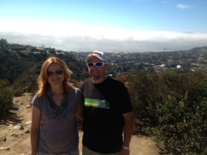 Jim and I overlooking La Jolla