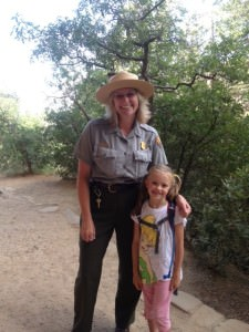 Our friend Lisa, a substitute Ranger. How cool is that?