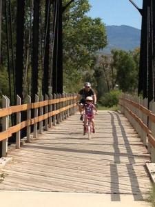 Ridgway State Park bike trail