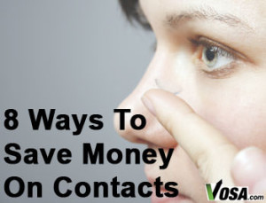 ways to save on buying contact lenses