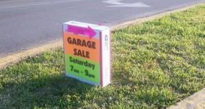 having a yard sale