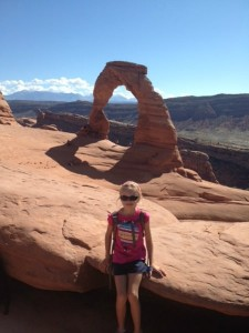 Delicate arch trail in Arches National Park