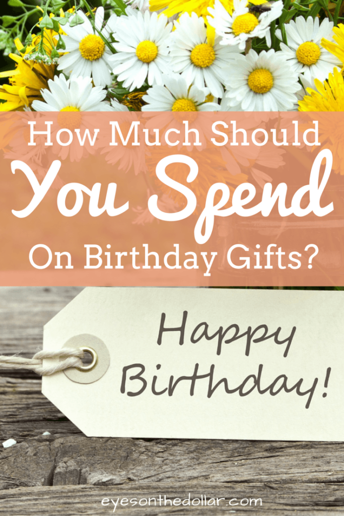 How Much Should You Spend on Birthday Gifts?