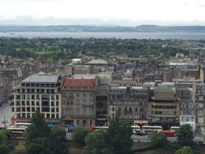 view of Edinburgh and beyond