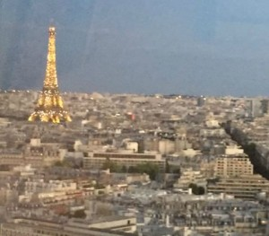 View of Eiffel Tower from Hyatt Regency